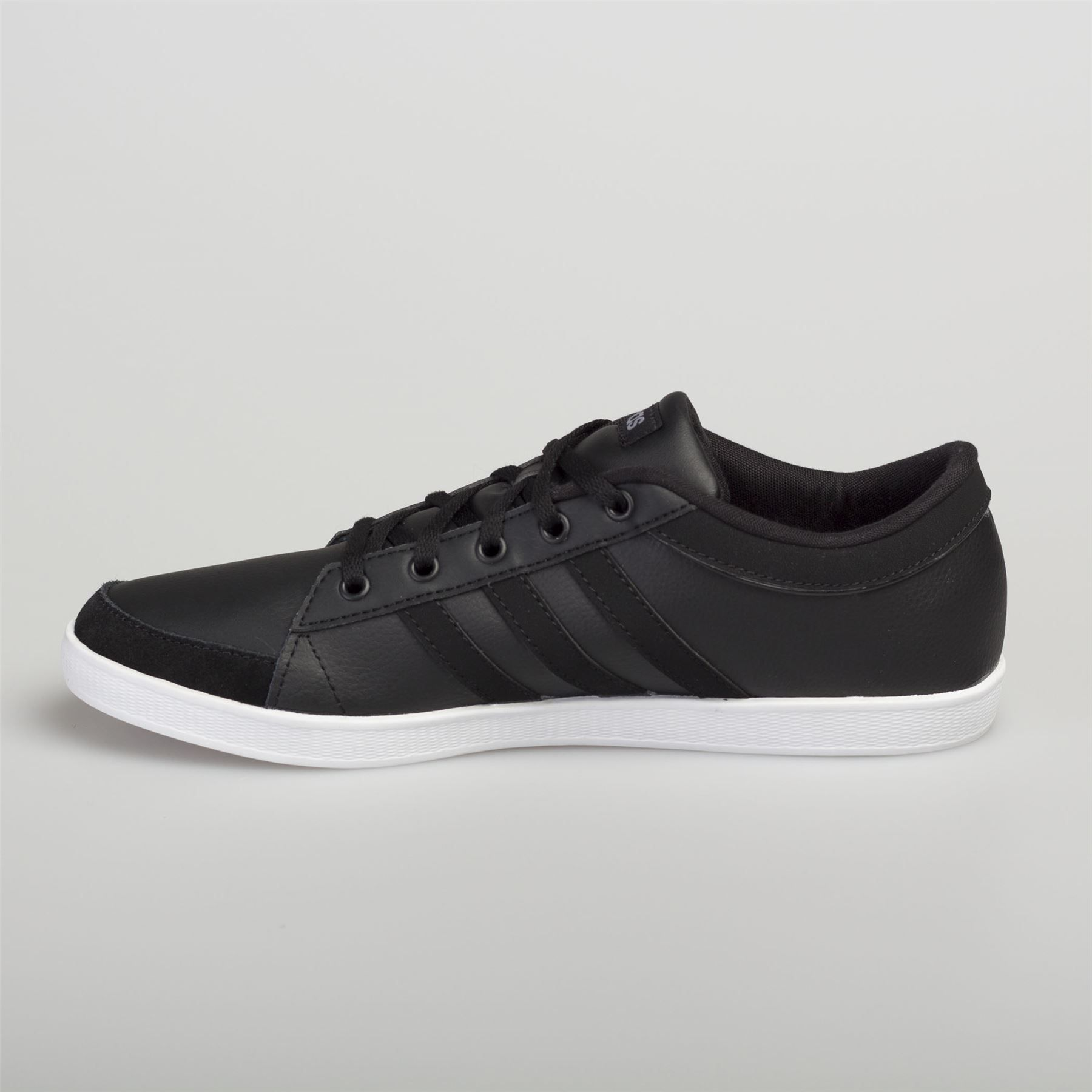 bccdfcf88e8c8 Adidas Men s Women s Leather Trainers Calneo Lite Racer Hoops VL Black White  Women Leather Trainers