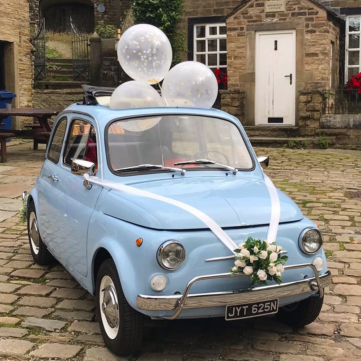 These confetti balloons made a great addition fiat500