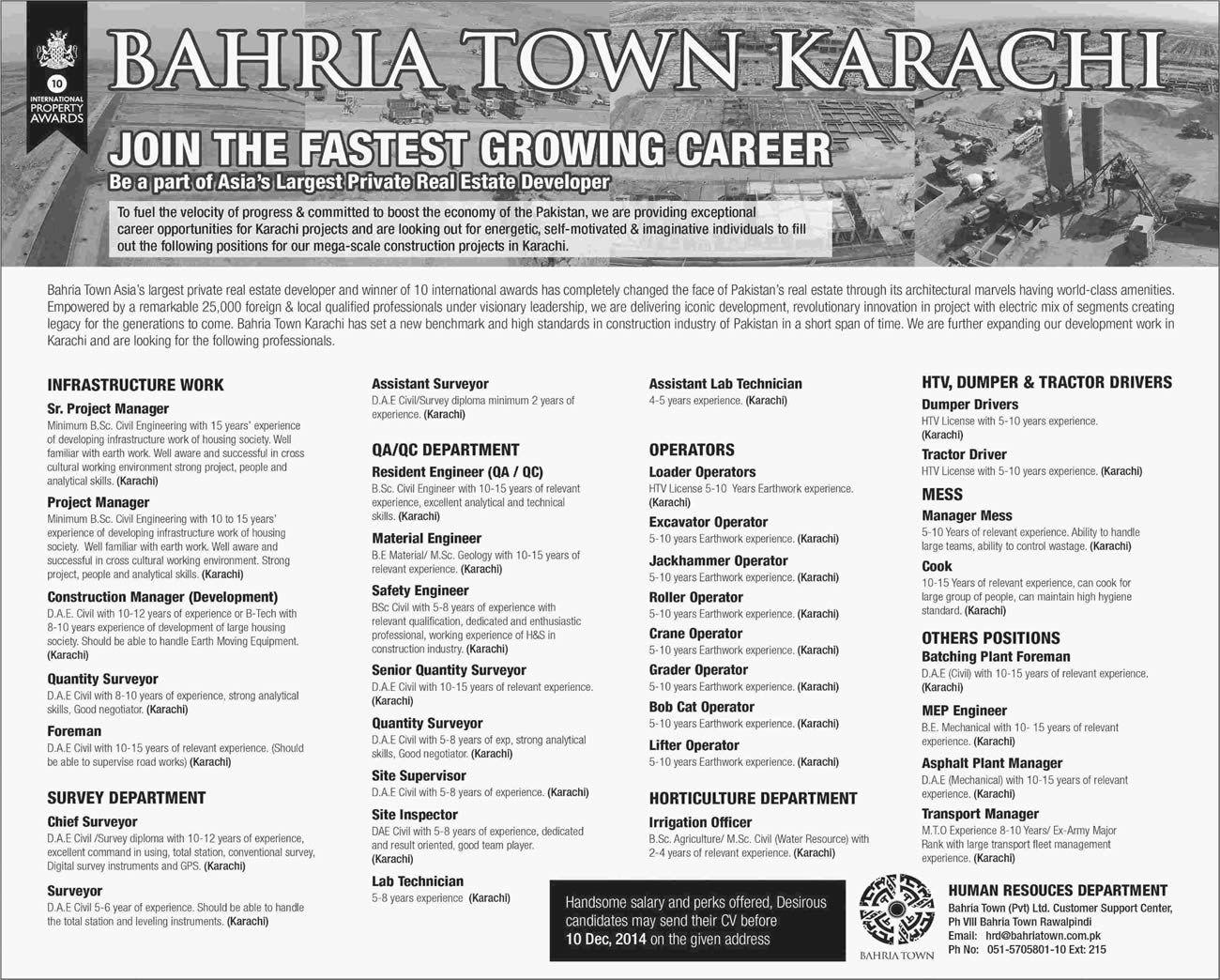 JobsPK bahria town job link Bahria town karachi, Jobs