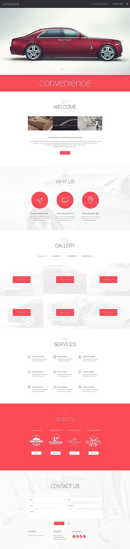 Template 55049 Limousine Limo Responsive WordPress Theme