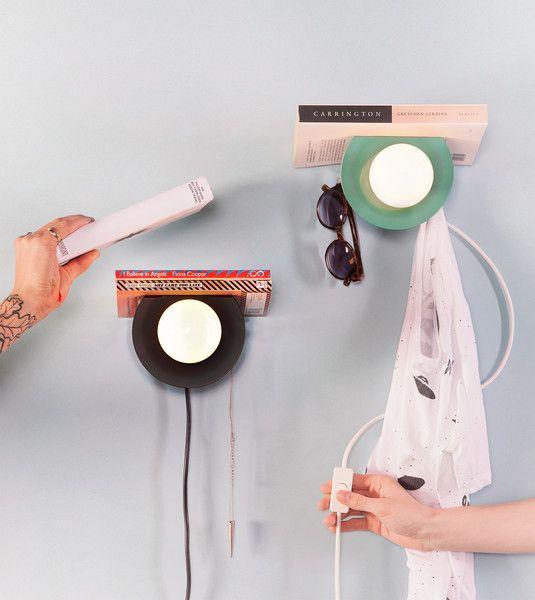 """Nachttischlampen - """"BOOKWORM"""" / HALOGEN LAMP - ein Designerstück von luuka-shop bei DaWanda"""