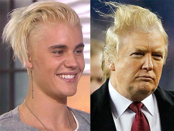 12 Good Laughs About Trump S Bad Hair Resemblance Justin Bieber Today Show Justin Bieber Funny Hair Meme