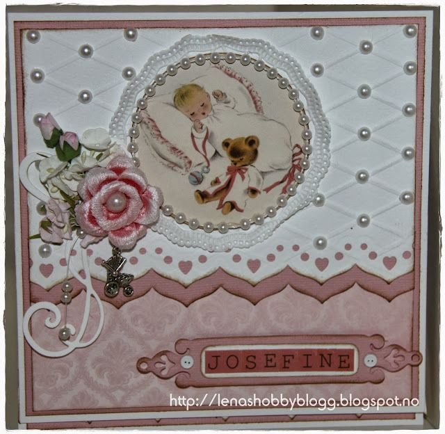 easel baby card by Lena... see open card in her blog post