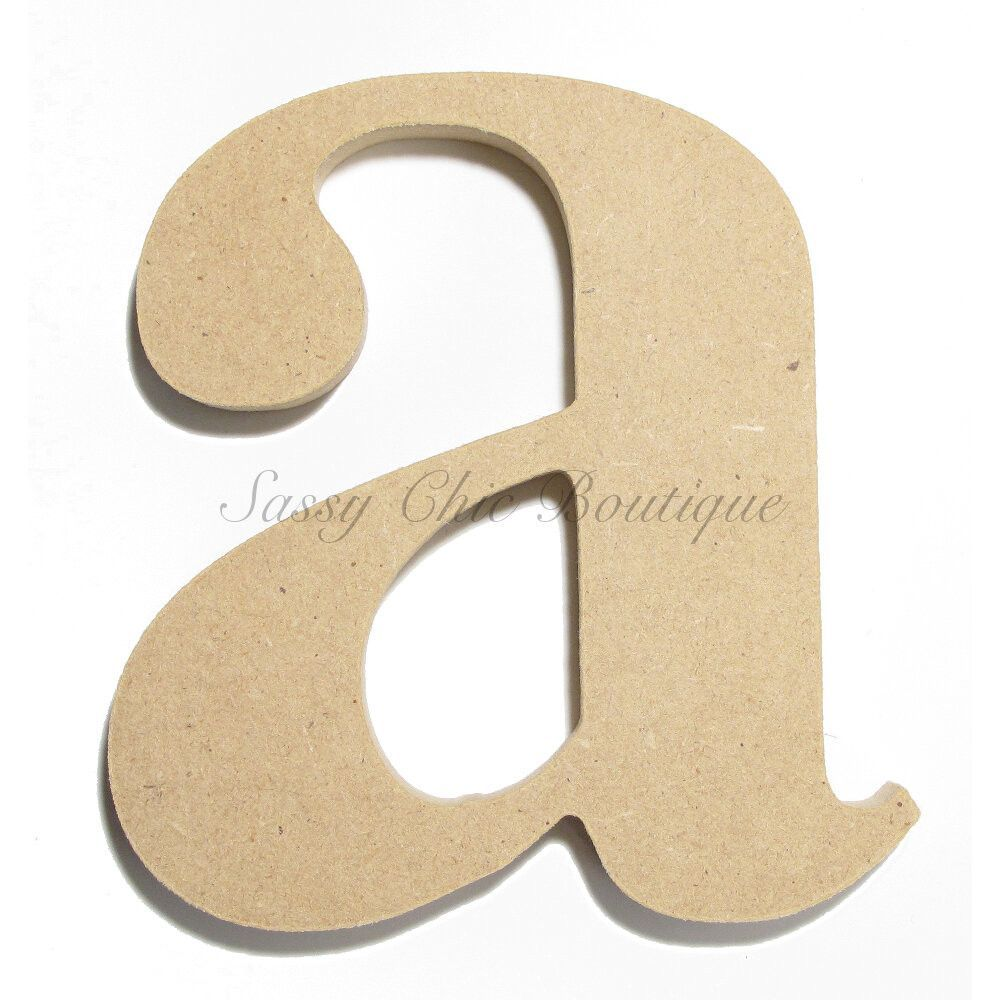 6 Quot 36 Quot Inch Unfinished Wooden Letter Lowercase Quot A
