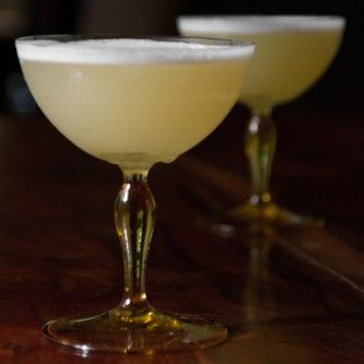 Ginger Sap Sour: vodka, lemon juice, ginger syrup, maple syrup, grapefruit bitters, egg white | Sippity Sup