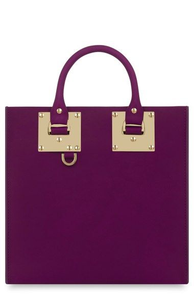 Sophie Hulme Square Leather Tote available at #Nordstrom, bag, сумки модные брендовые, bags lovers, http://bags-lovers.livejournal