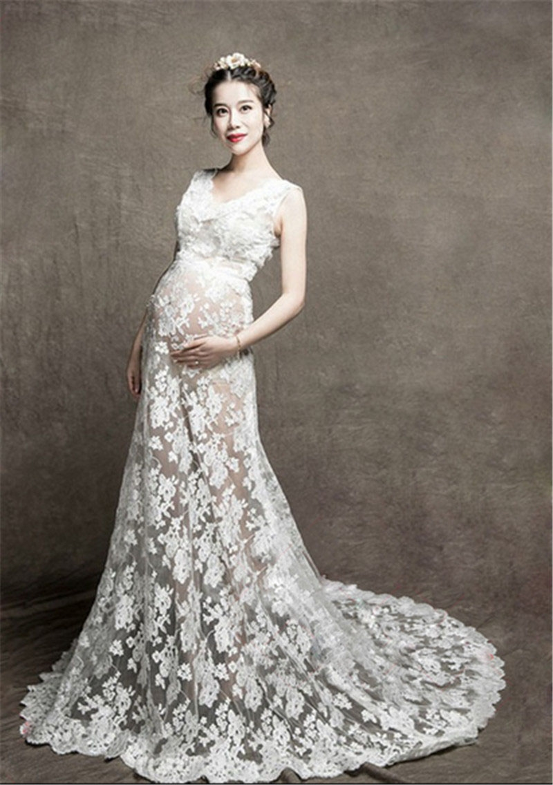 Lace dress for pregnant   Buy here  Pregnant Photography Prop Womenus Baby Shower