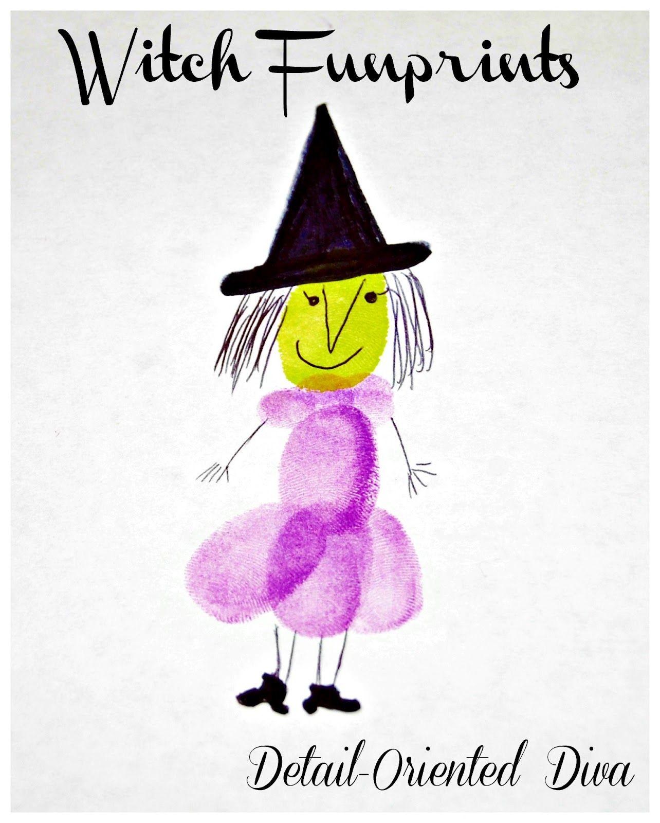 Detail-Oriented Diva!: Witch Funprints | Halloween | Pinterest ...