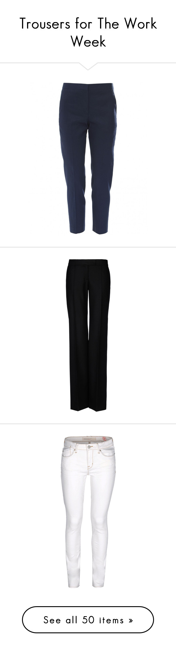 """""""Trousers for The Work Week"""" by english-thea ❤ liked on Polyvore"""