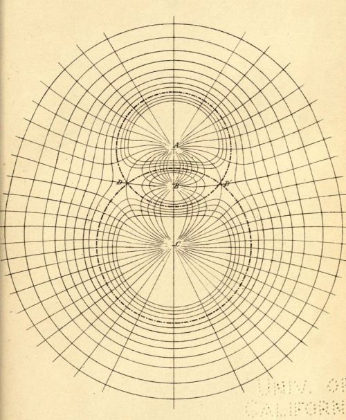 """Lines of force"" _A treatise on electricity and magnetism_ 1873"