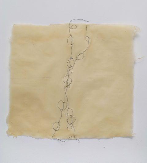 by Nancy Cohen ~ Wire-embedded handmade paper,