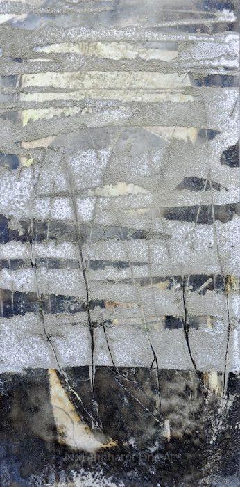 192. 2015. Wachs/Mischtechnik auf Holzboard. 20x40 cm. wax/mixed media on wood.