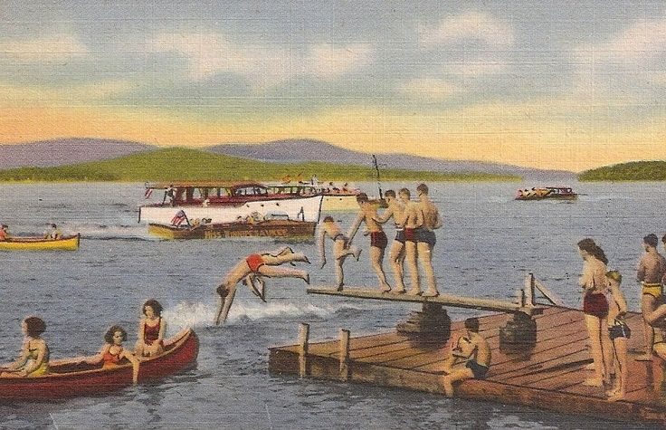 Lake Winnipesaukee New Hampshire Nh The Weirs Water Sports Etsy Lake Winnipesaukee Winnipesaukee New Hampshire
