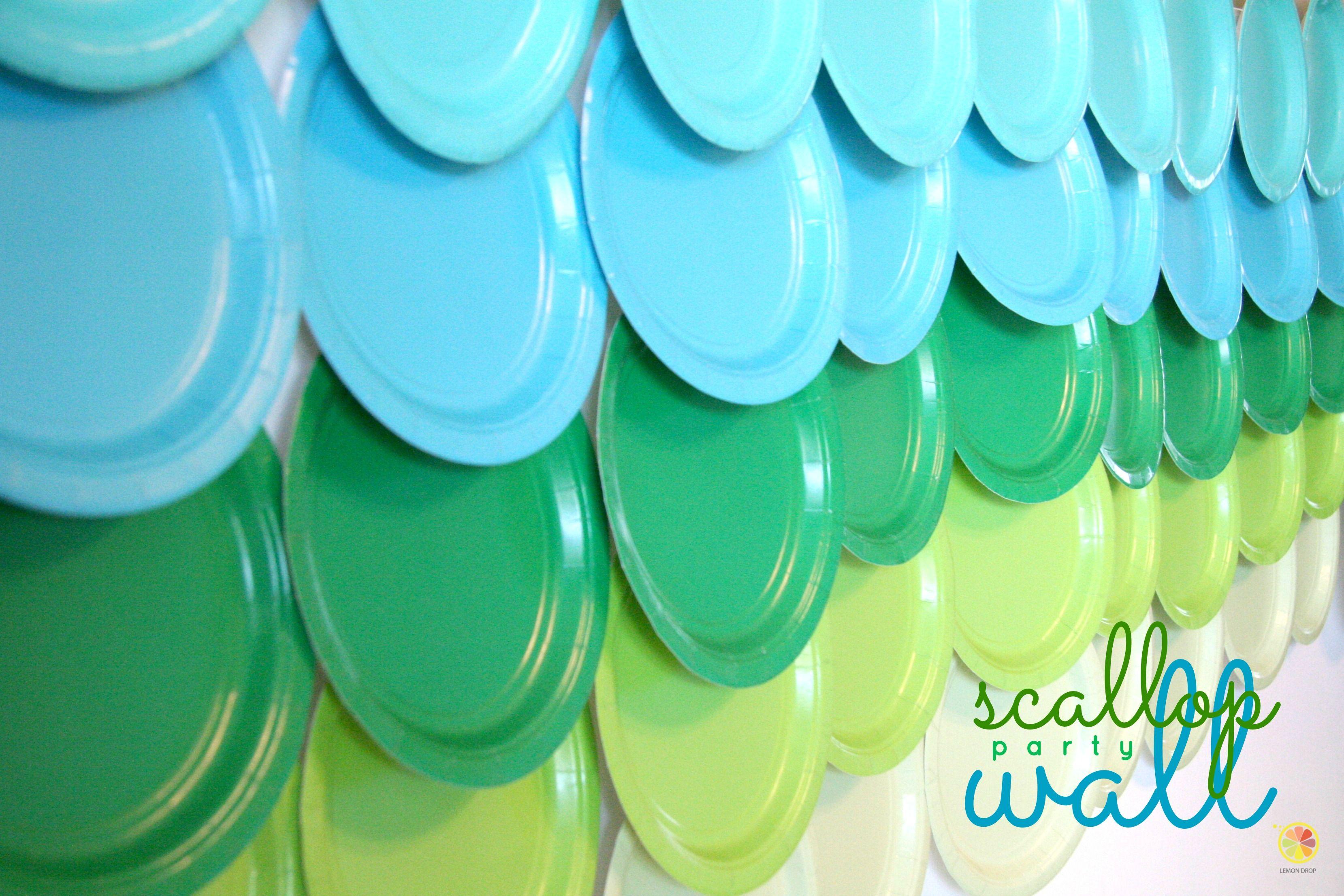 Diy Scallop Party Wall Ocean Birthday Rainbow Backdrop