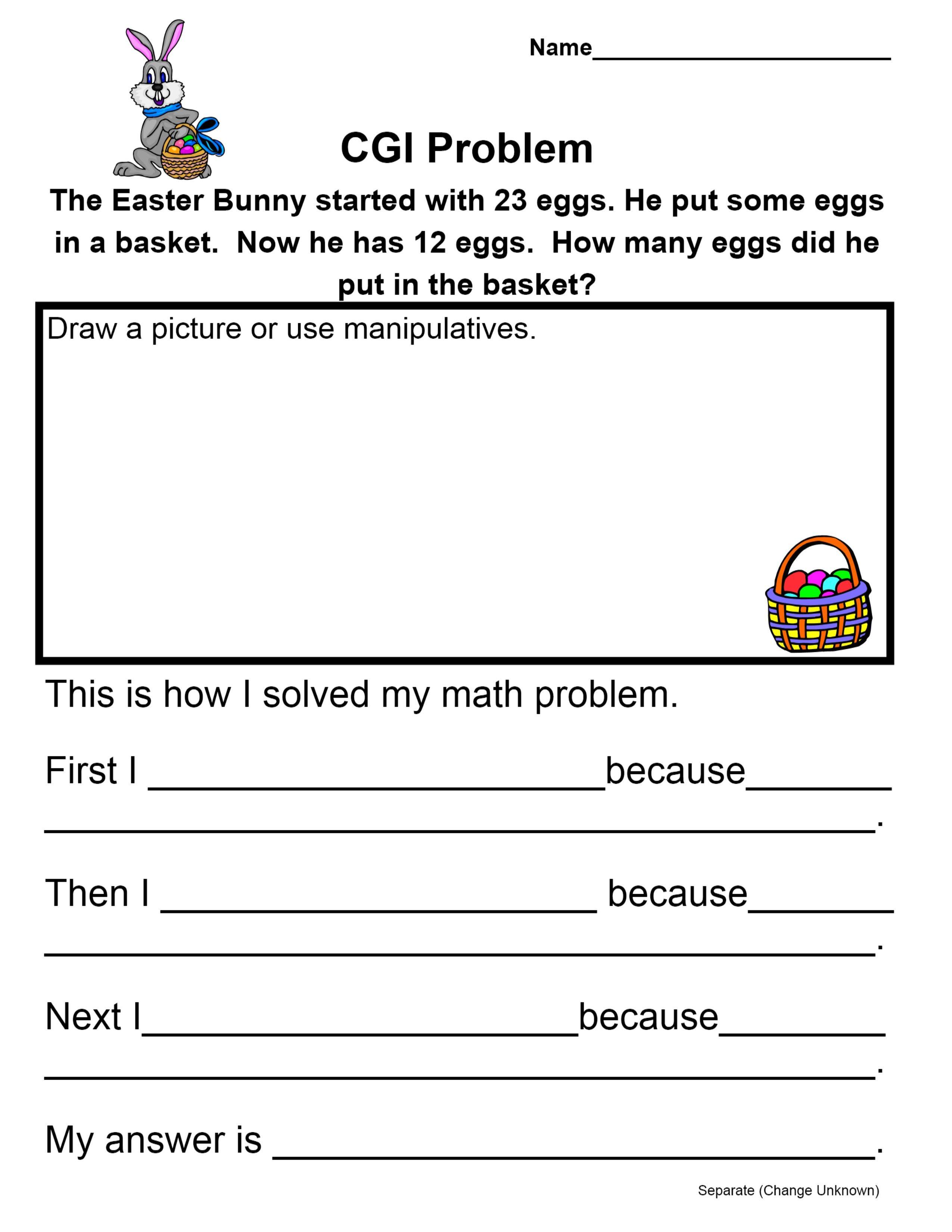Cgi Easter Bunny Math Problem