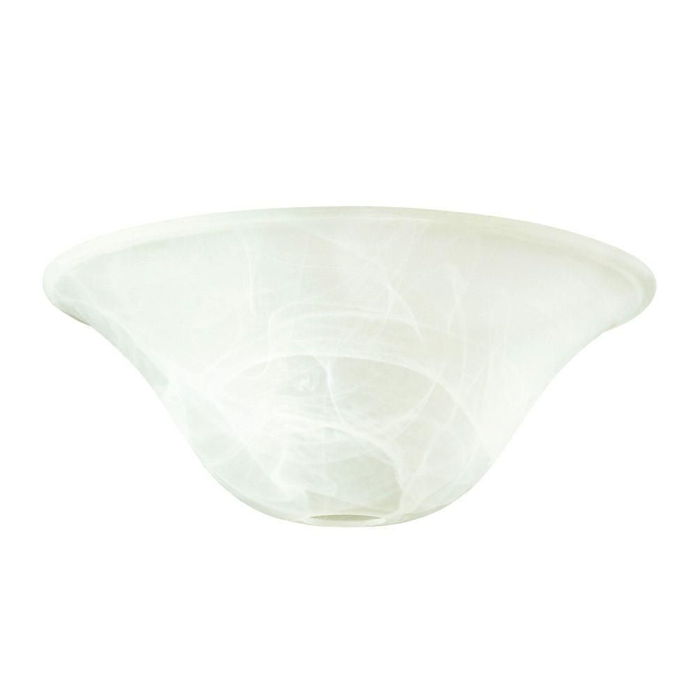 White Alabaster Torchiere Glass Shade 8103608