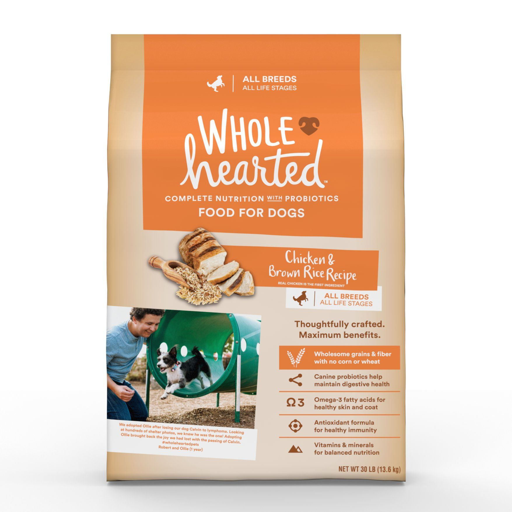 Wholehearted all life stages chicken and rice recipe dry