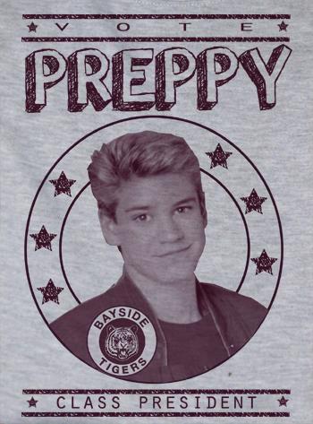 Custom Saved By the Bell Zach Morris Preppy For Presiden Kelly ...