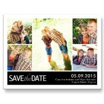 Modern Collage Save The Date Postcard