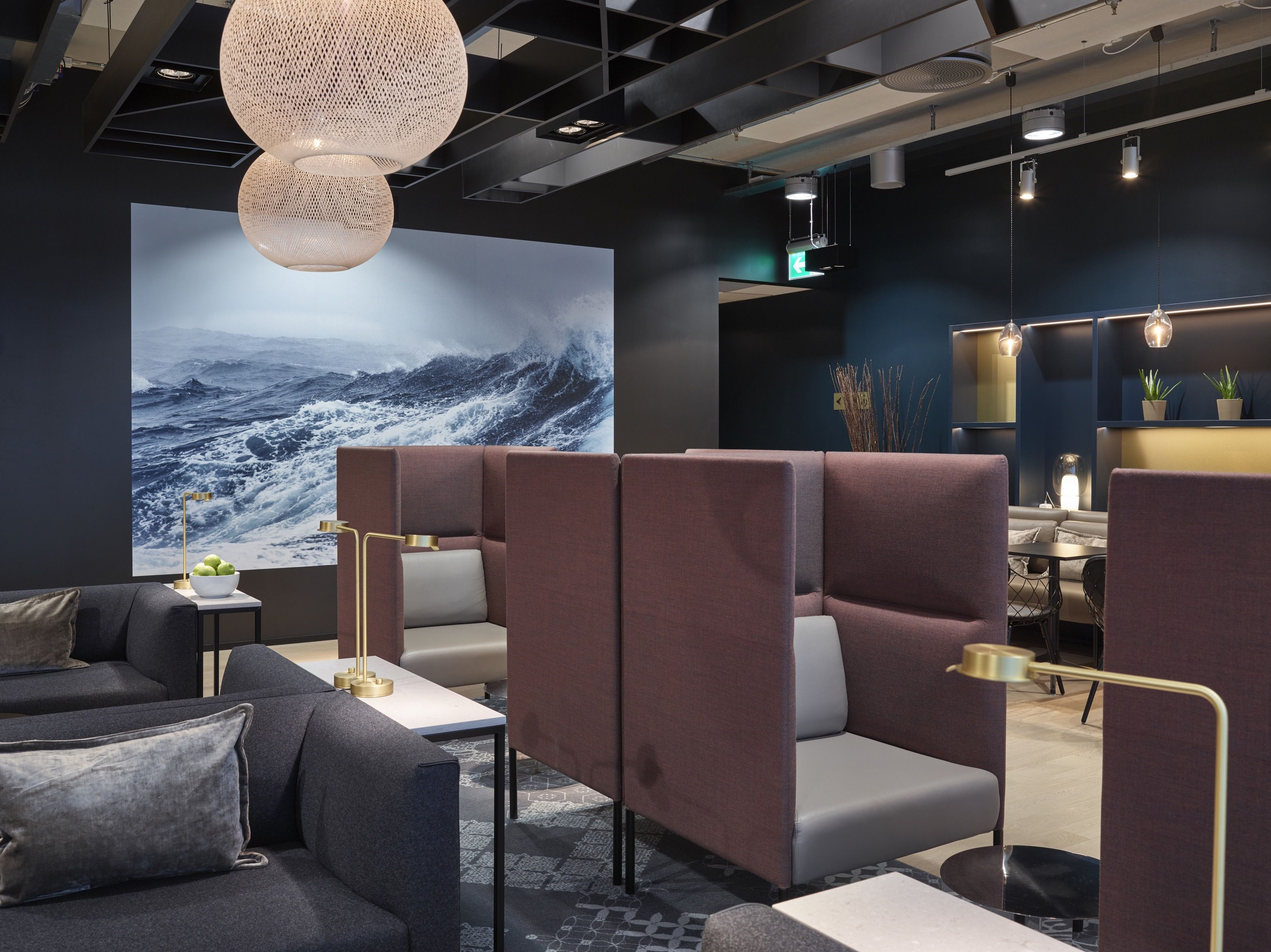 Business Lounge at Stavanger Airport Sola, designed by