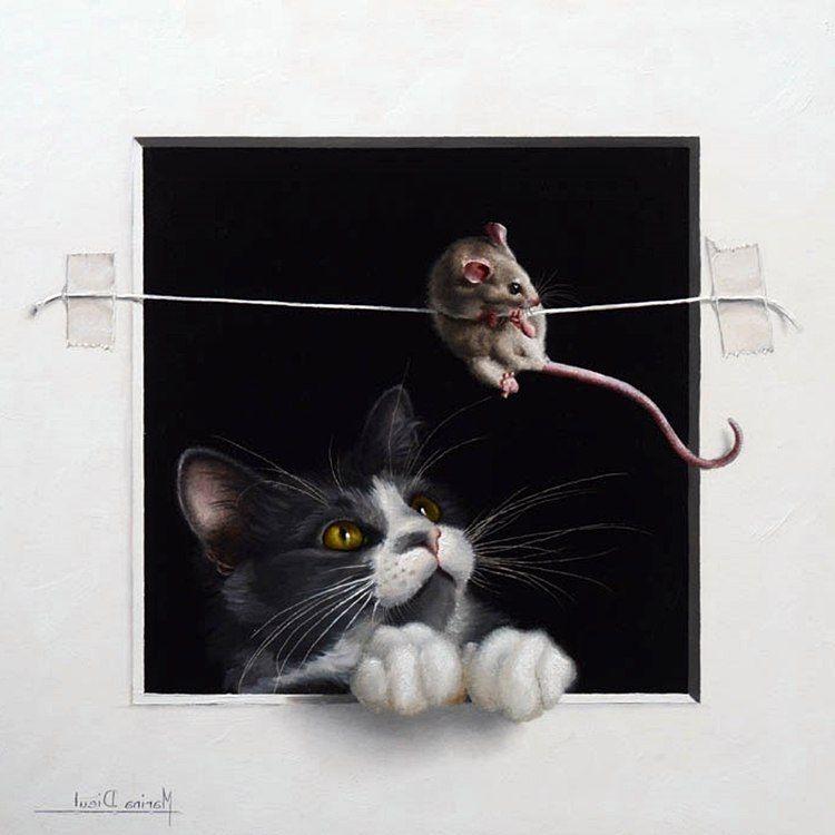 картинки для декупажа кот и мыши выбор мотоблоков тележкой