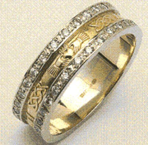 Diamond Egyptian Wedding Ring Irish Wedding Rings Claddagh Ring Wedding Wedding Rings
