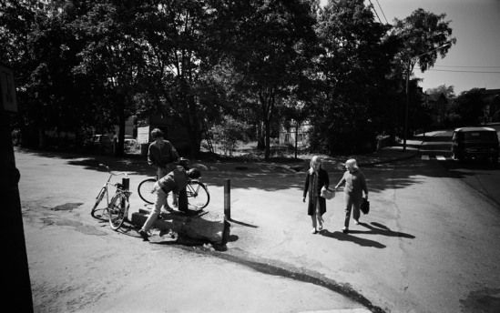 Vesiposti Pasilankadun ja Magdaleenankadun kulmassa 1971 (Pasilanraitio. Winqvistinkatu). (Kuva Hgin kaupunginmuseo, Kari Hakli)
