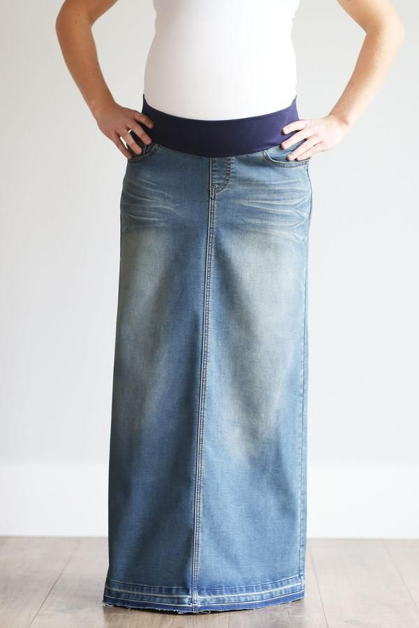 special section good looking well known Morgan Long Skirt in 2019 | Baby Fever. | Skirts, Jean skirt ...