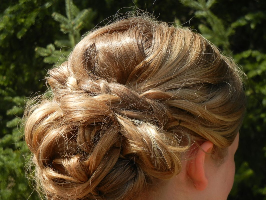 A pretty updo for your prom homecoming or other special occasion