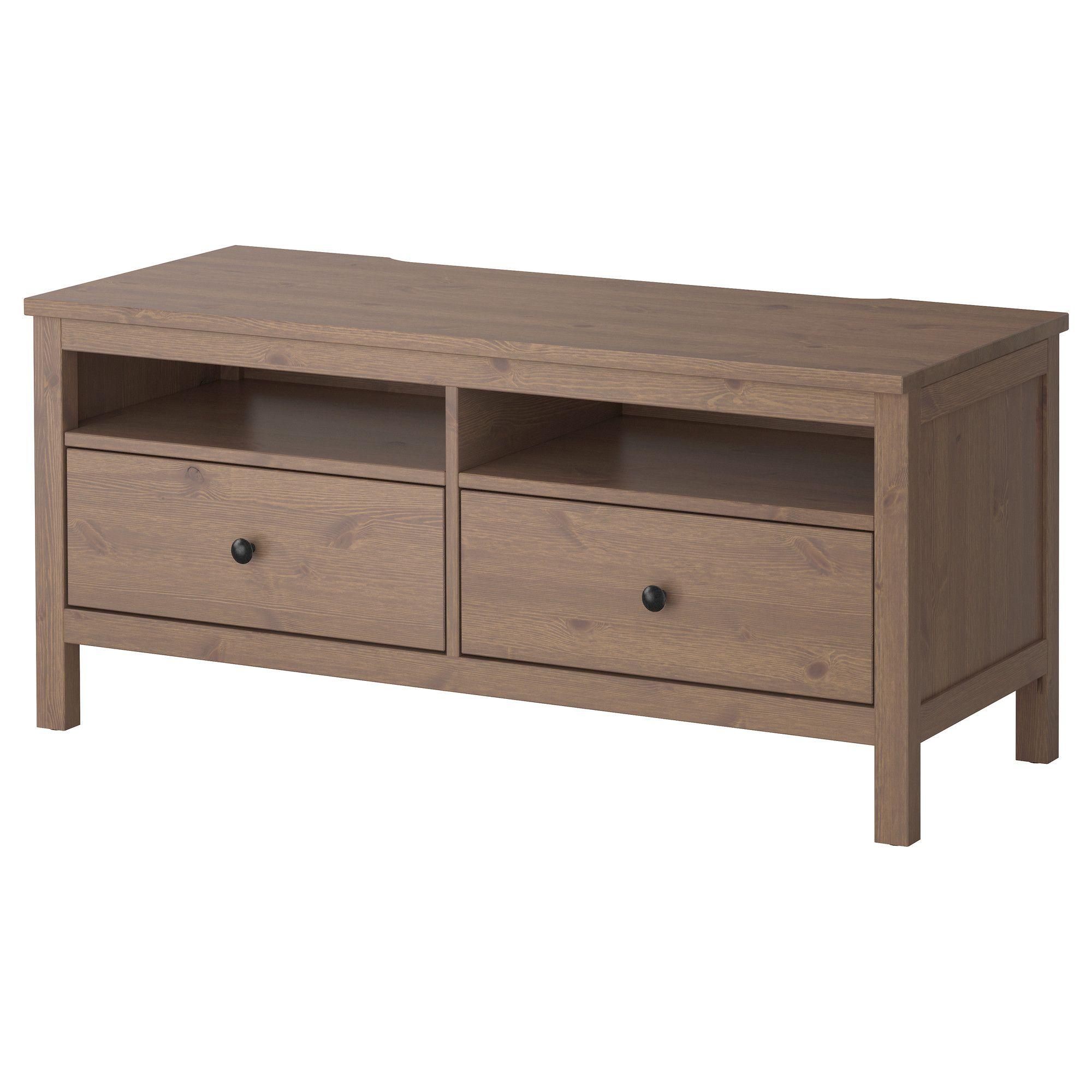 hemnes tv b nk gr brun ikea a room of my own pinterest. Black Bedroom Furniture Sets. Home Design Ideas