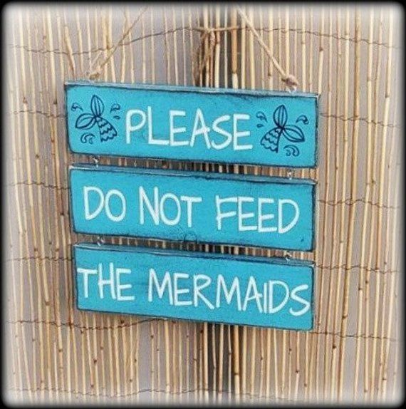 Mermaid Decor Mermaid Tail Pool Signs Pool Decor Funny Pool