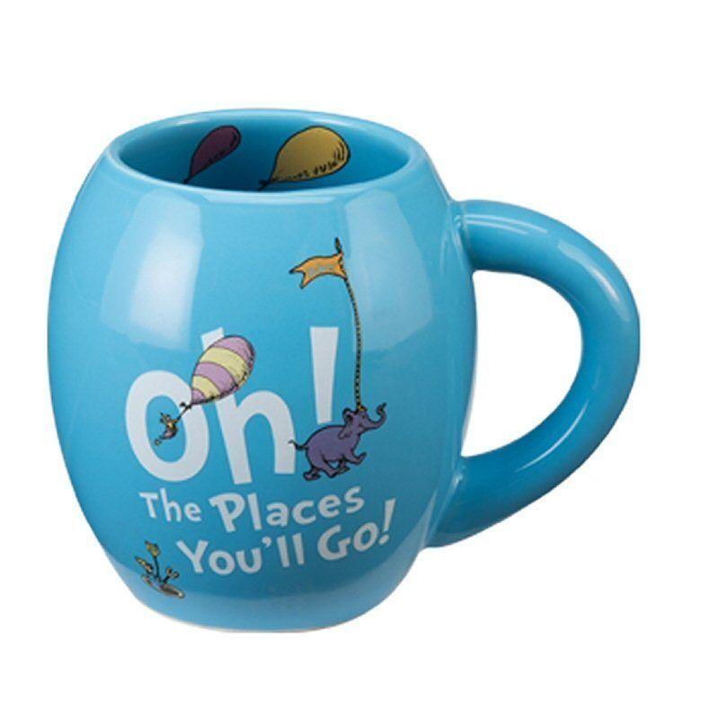 Spoontiques Bee Happy ceramic Coffee Mug Blue