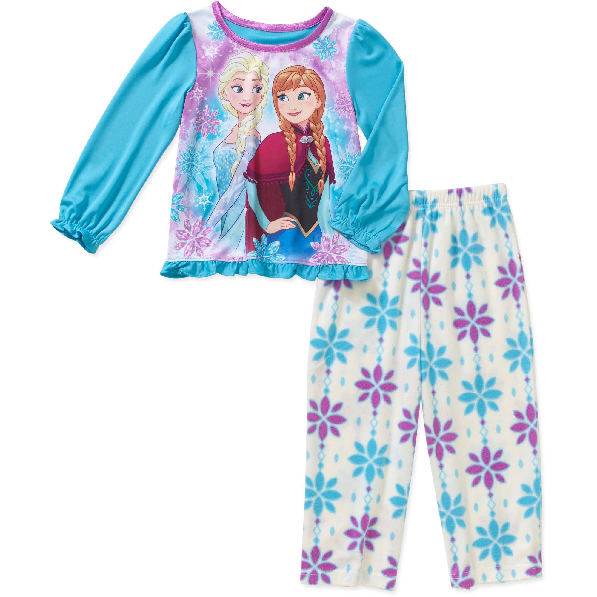 Ragazze Frozen Pigiama Bambinocongelato Set PigiamaPrincipessa Disney Elsa /& Anna Pjs