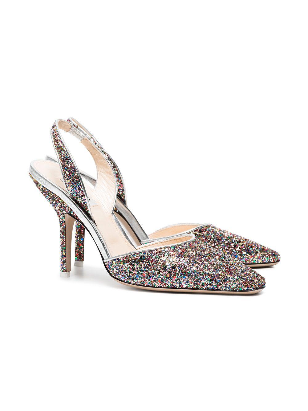 multi coloured glitter shoes