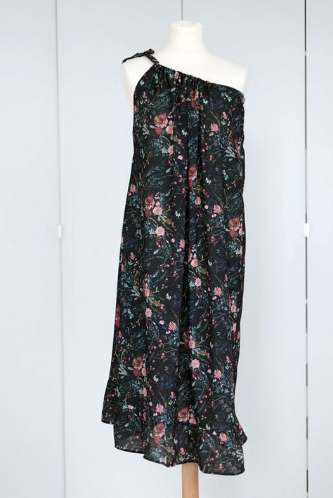 Kleid ohne Schnittmuster nähen | Kostenloses schnittmuster ...