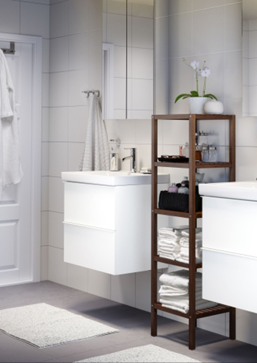 Clic Bathroom Ideas | Neutral Colors And Clean Lines Create A Peaceful Bathroom