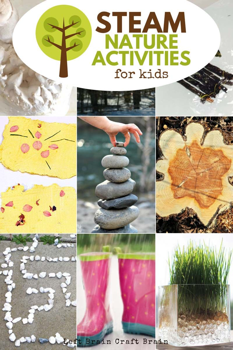 Awesome STEAM Nature Activities for Kids | Left Brain ...