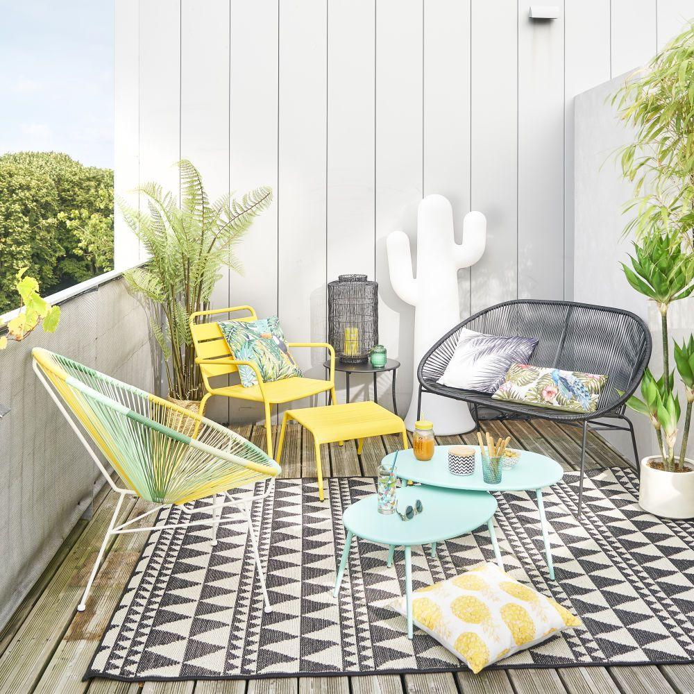 coussin d 39 ext rieur imprim tropical 30x50 maisons du monde le printemps de maisons du monde. Black Bedroom Furniture Sets. Home Design Ideas