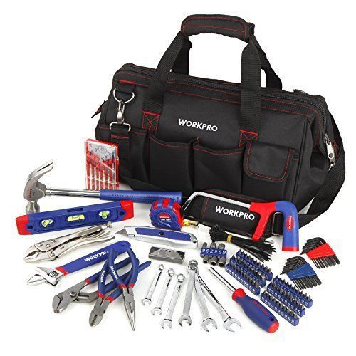 WORKPRO 156Piece Home Repair Tool Set  Daily Use Hand Tool Kit with Wide Open  WORKPRO 156Piece Home Repair Tool Set  Daily Use Hand Tool Kit with Wide Open