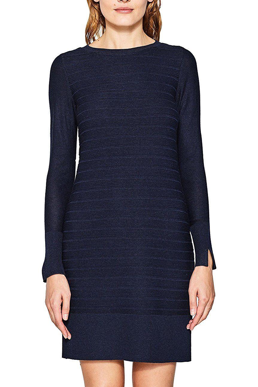ESPRIT Damen Kleid 087EE1E001, Blau (Navy 400), X-Small | Das ...