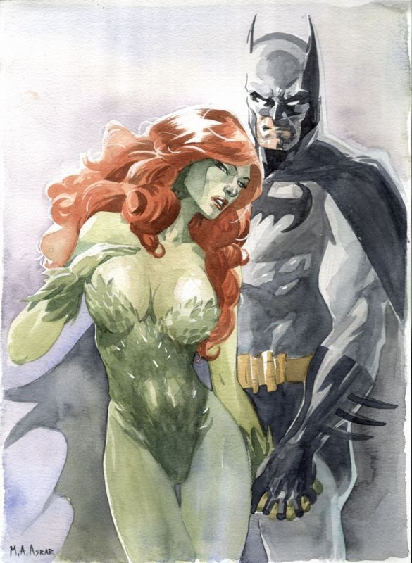 Batman and Poison Ivy by Mamoud Asrar