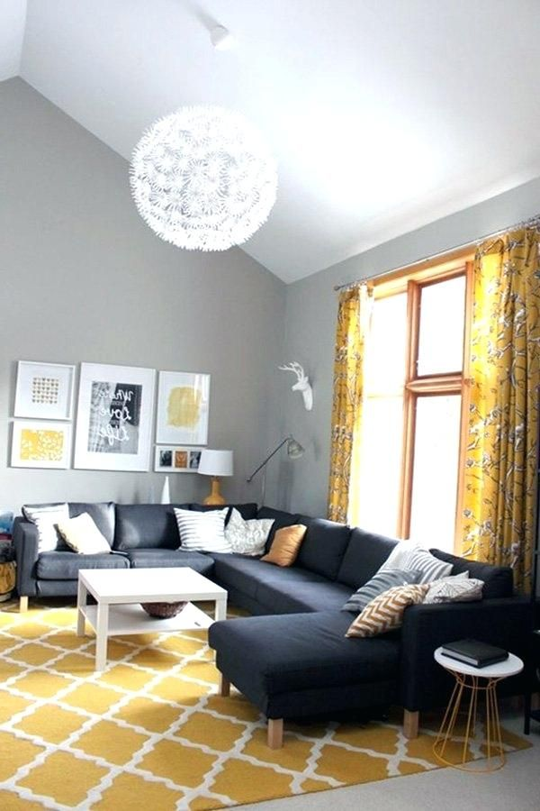 Image result for black gray and yellow living room Homing In 1