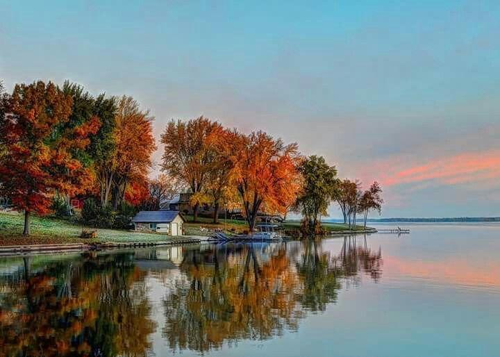 RPPC Sunset on Beaver Dam Lake, BEAVER DAM WI, Wisconsin