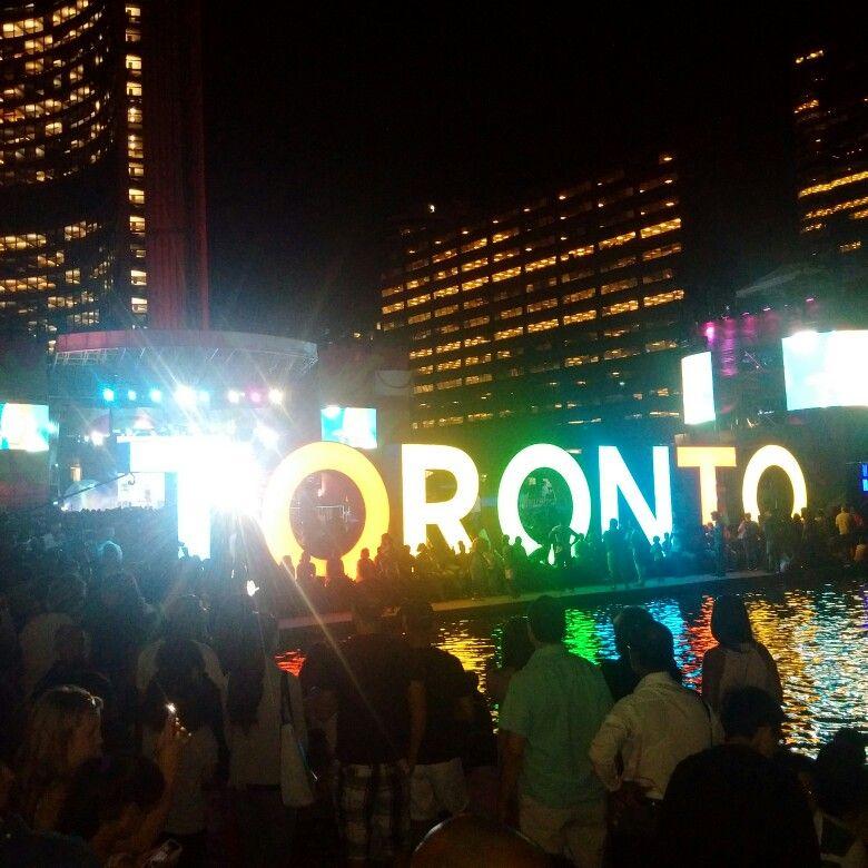 Toronto Pan Am Games closing in Nathan Phillip Square... I love Toronto