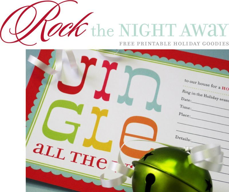 Rock The Night Away Jingle All The Way Holiday Party Invitations