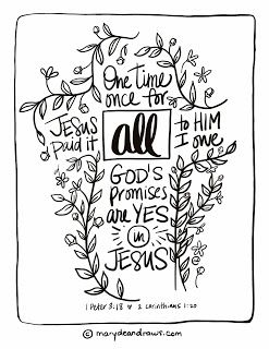 Pain, Good news, and an Easter Bible Verse Coloring Page