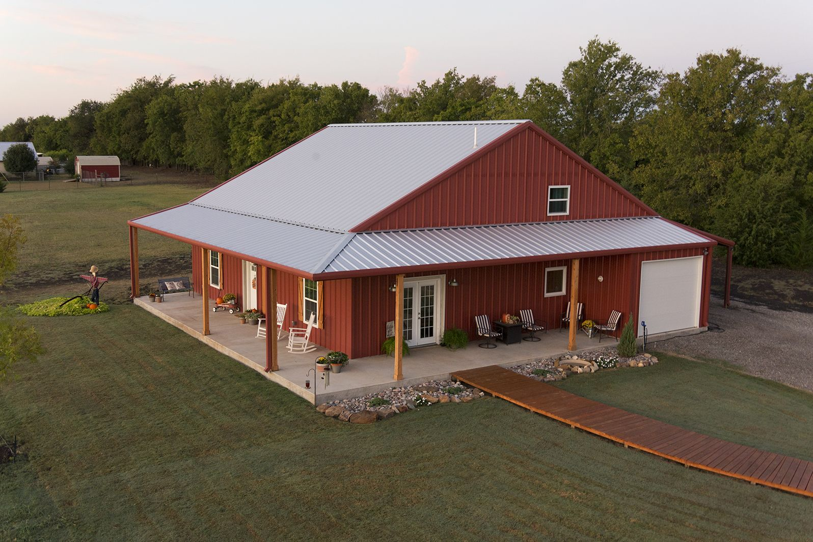 Red Like A Flame Metal Building Home Steel Building Homes Barn