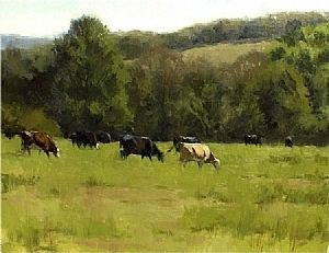 Grazing by Kevin Menck Oil ~  x