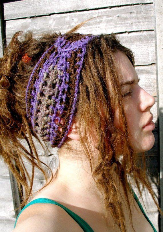 ef5424ff47c Mountain Top Purple Crochet Hippie Dread Wrap Headband GIFT IDEAS ...