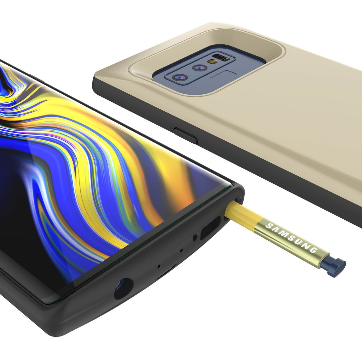 premium selection d0049 8f253 Galaxy Note 9 5000mAH Battery Charger W/ USB Port Slim Case [Gold ...